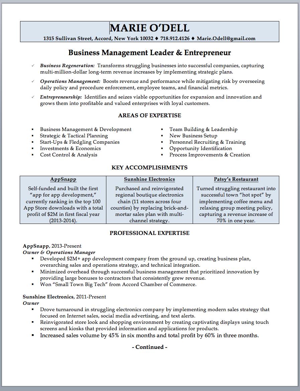 Business Owner Resume Sample Additional Skills Resumes Business Owner Resume Sample Writing