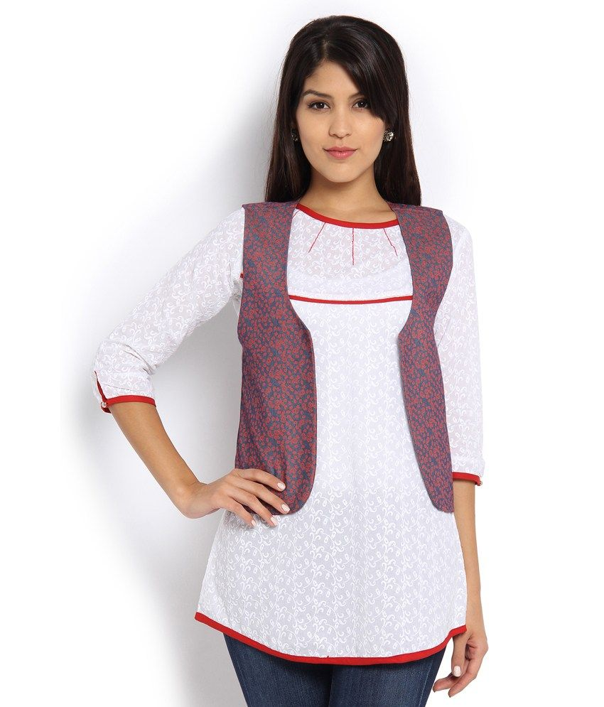 Soch White & Red jacket  available at snapdeal for Rs.1598