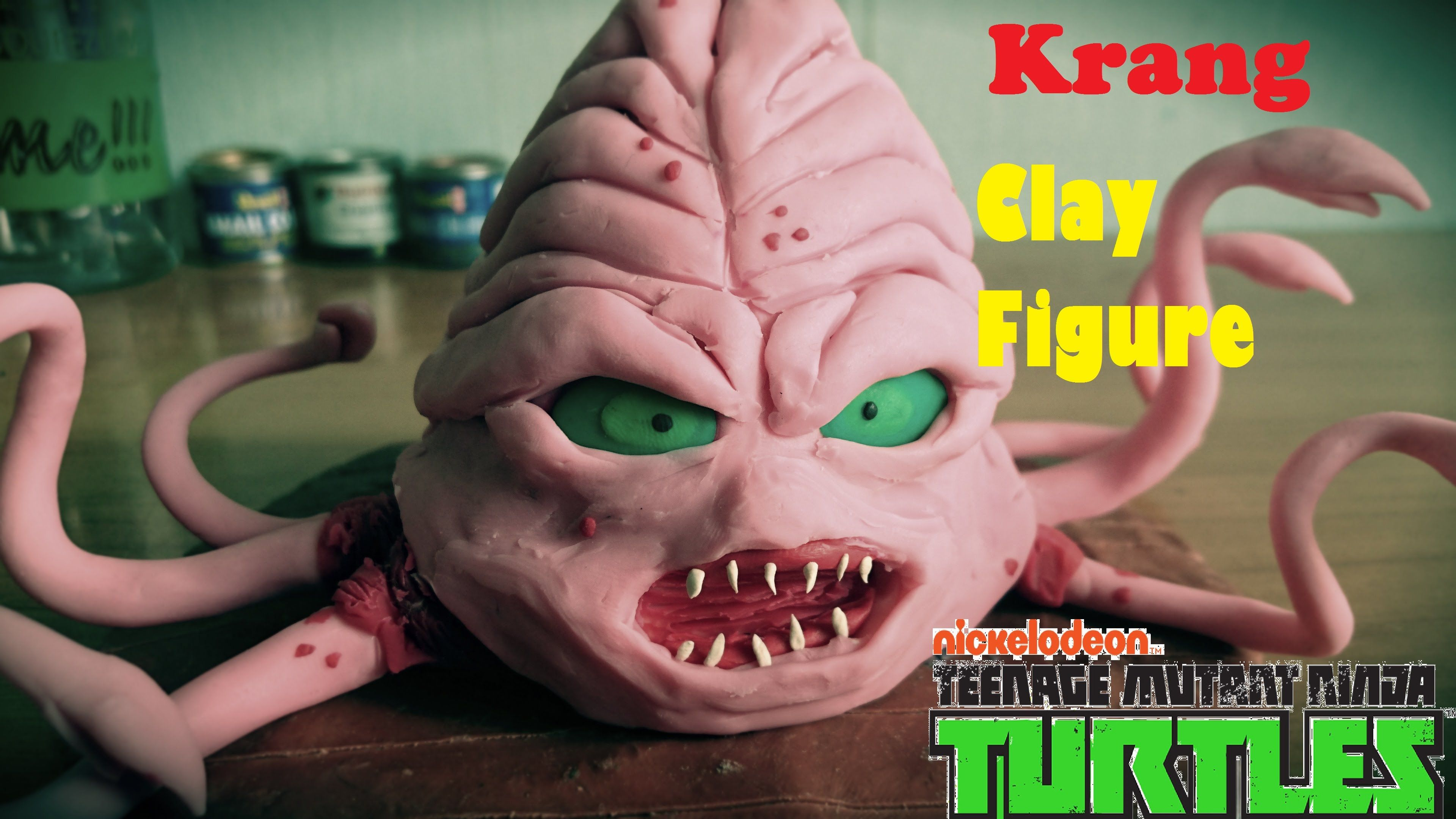 TMNT -Krang clay Figure |How to sculpt|