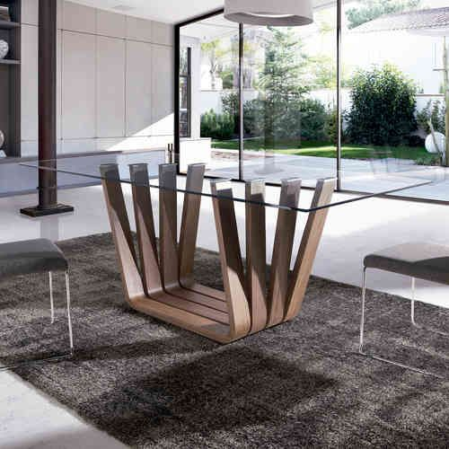 Mesa de comedor diseno italiano vicenza glass 500 for Diseno comedor industrial