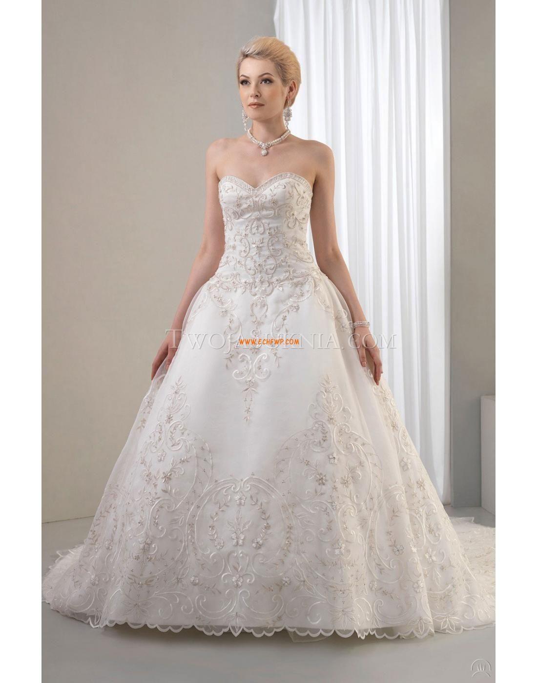 A-line Col en cœur Lacets Robes de mariée Designer | Robe de mariée ...