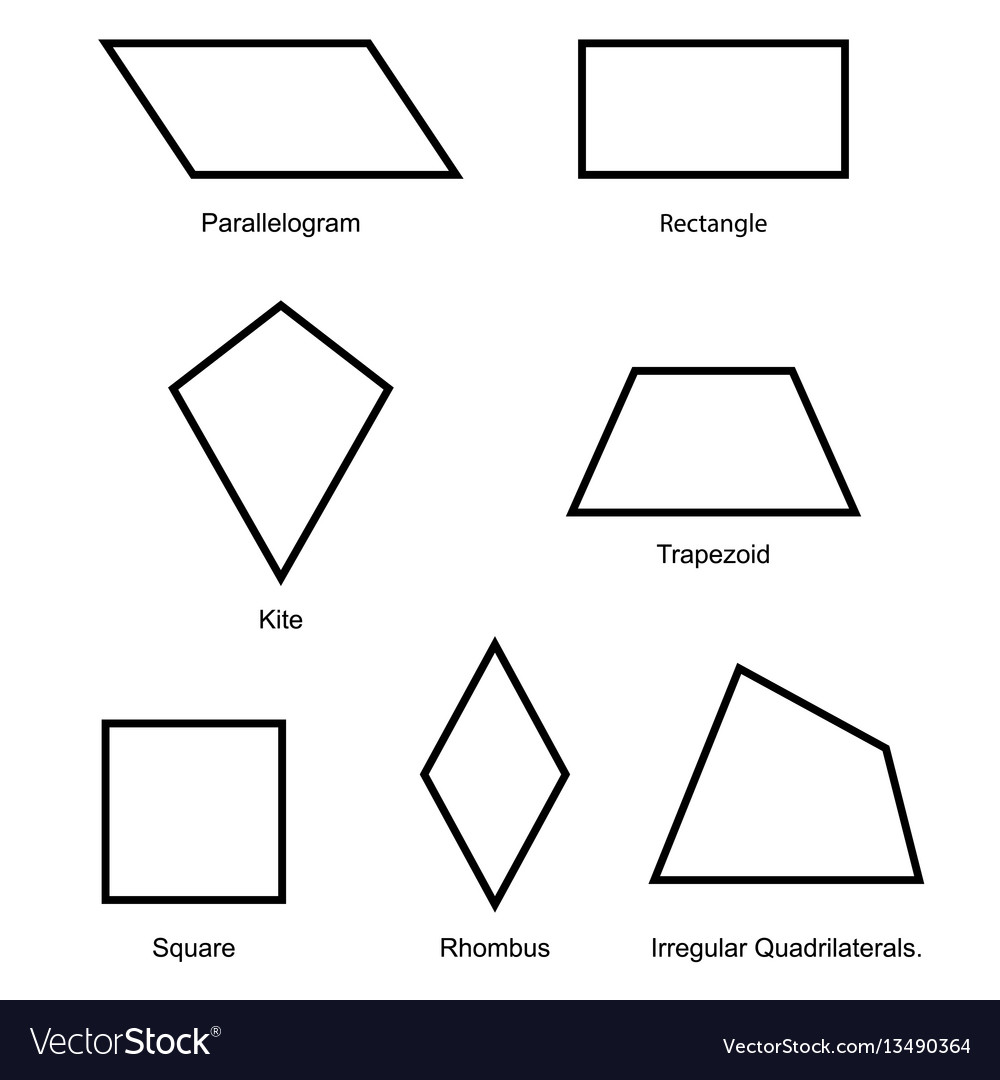 2d shape set vector isolated on white background. Download ...