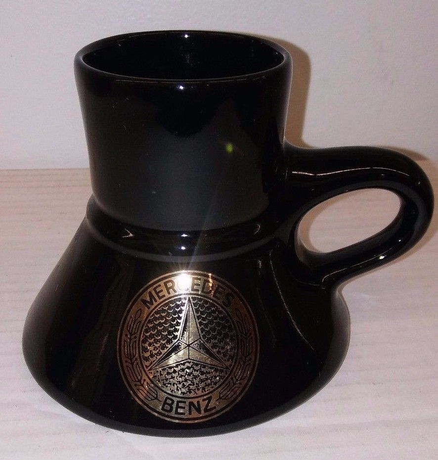 Mercedes No Black Benz Ceramic Spill Coffee Travel Vtg Mug Fat dBeCWQxrEo