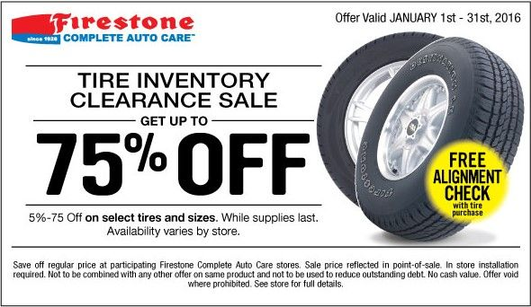 Up To 75 Off Tire Inventory Clearance Sale For January 2016