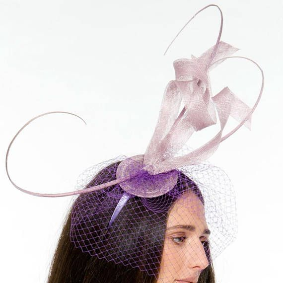 d554c2a8612 TheHeadwearBoutique on Etsy- Issy lilac light purple Oaks Day   KY Derby  Fascinator