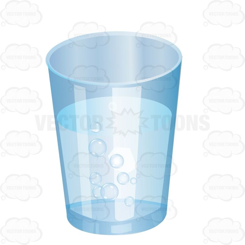 Cup Of Water Illustration