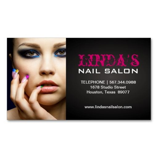Nail technician business card appointment business card templates nail technician business card reheart Images