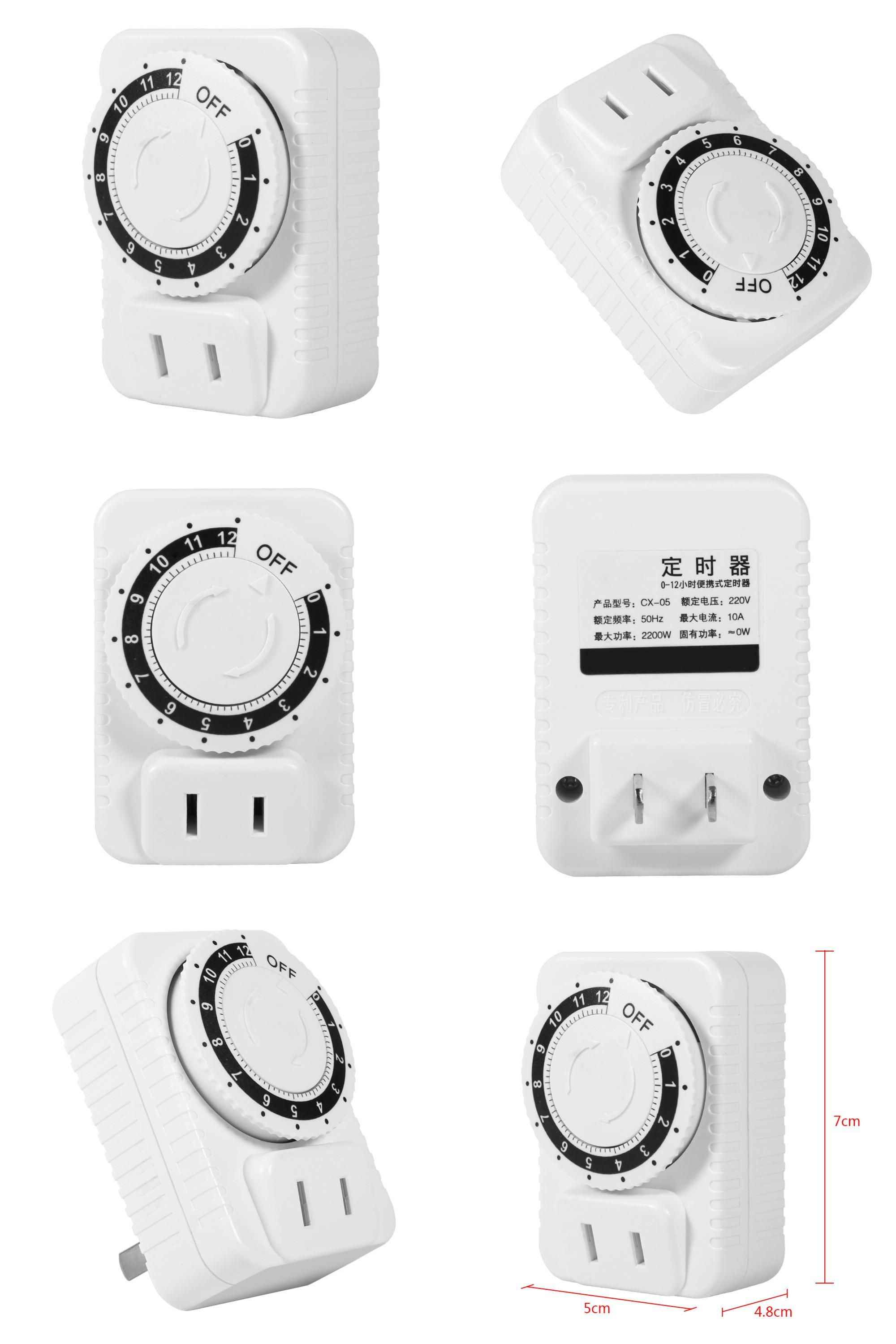 Visit to Buy] 1Pc 12 Hour Electrical Mechanical Time Wall Plug ...