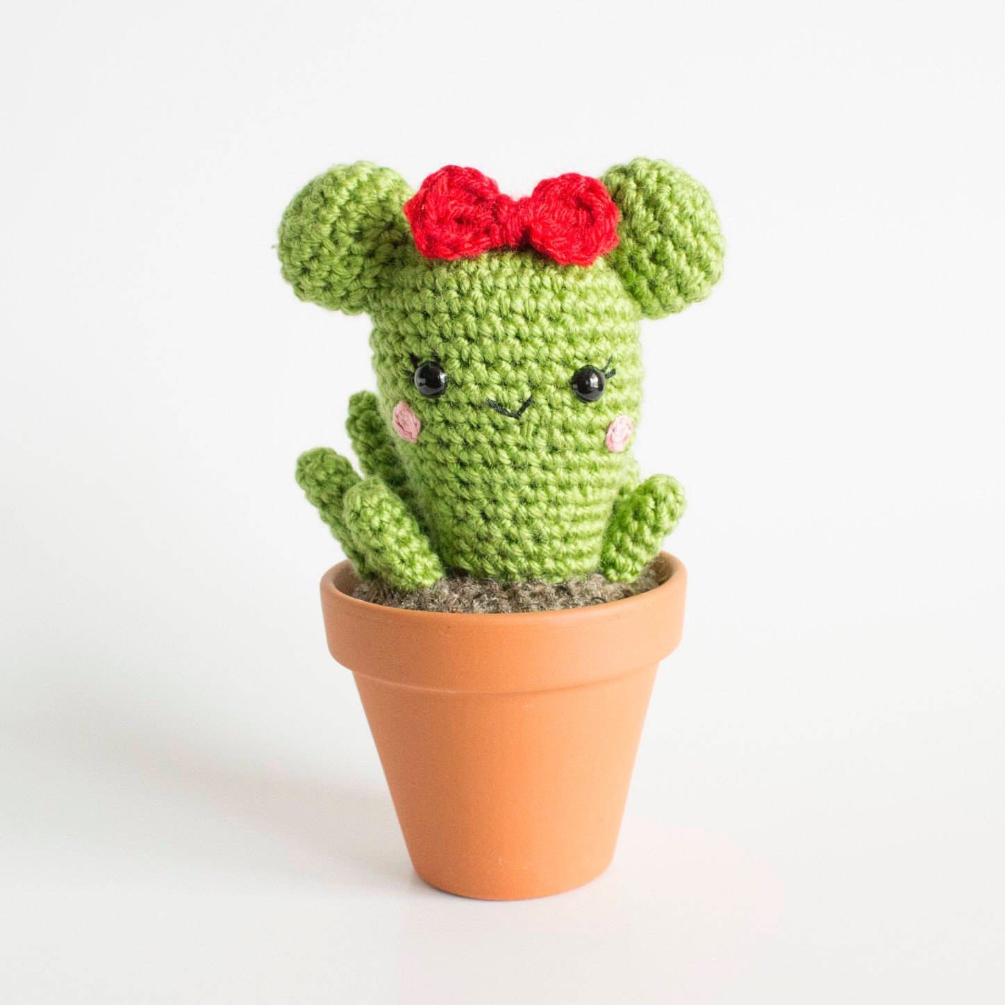 This listing is for ONE of these adorable mini crochet cactus ... | 1447x1447