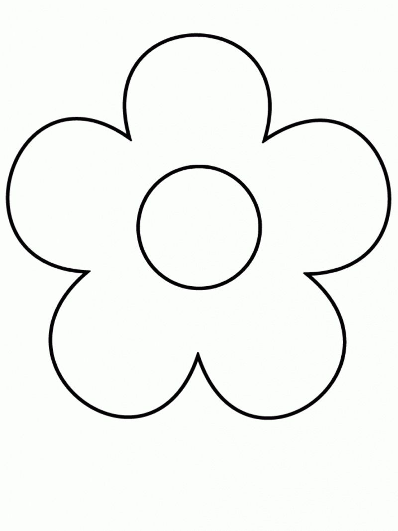 Easy Coloring Pages Simple Flower Drawing Flower Coloring Pages Shape Coloring Pages