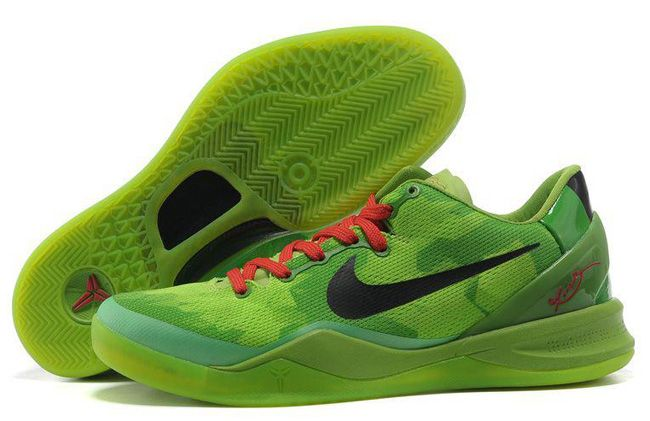 buy online 444b5 f64a8 Buy New Nike Zoom Kobe 8 (VIII) Christmas Green Black Red Basketball Shoes  Style Basketball Shoes Shop