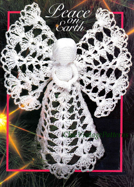Christmas Angel Pattern .. Crochet Tree Top Angel .. PDF