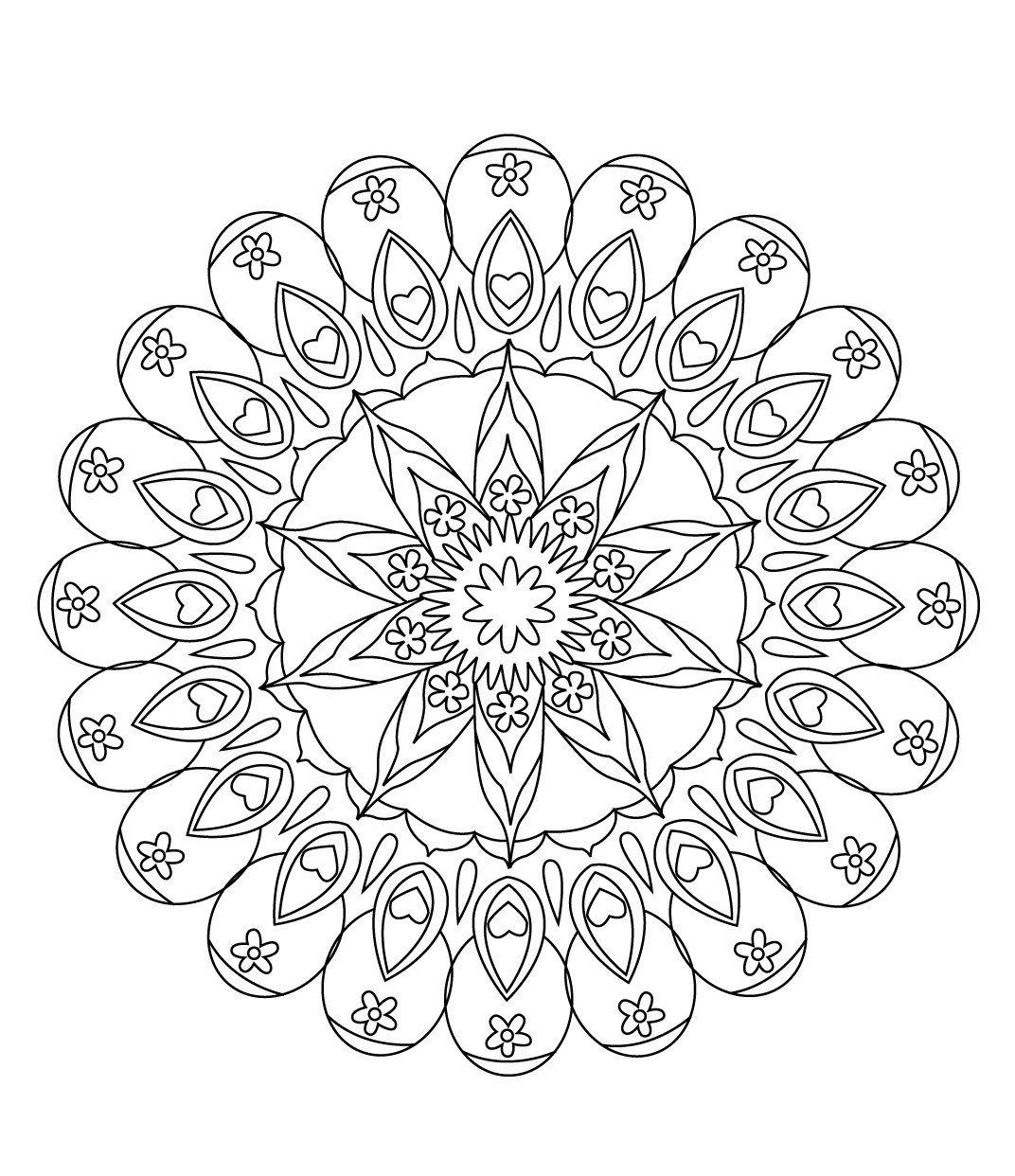 Stci coloriage pour adultes et enfants mandalas mandalas coloring pages pinterest - Mandala adulte ...