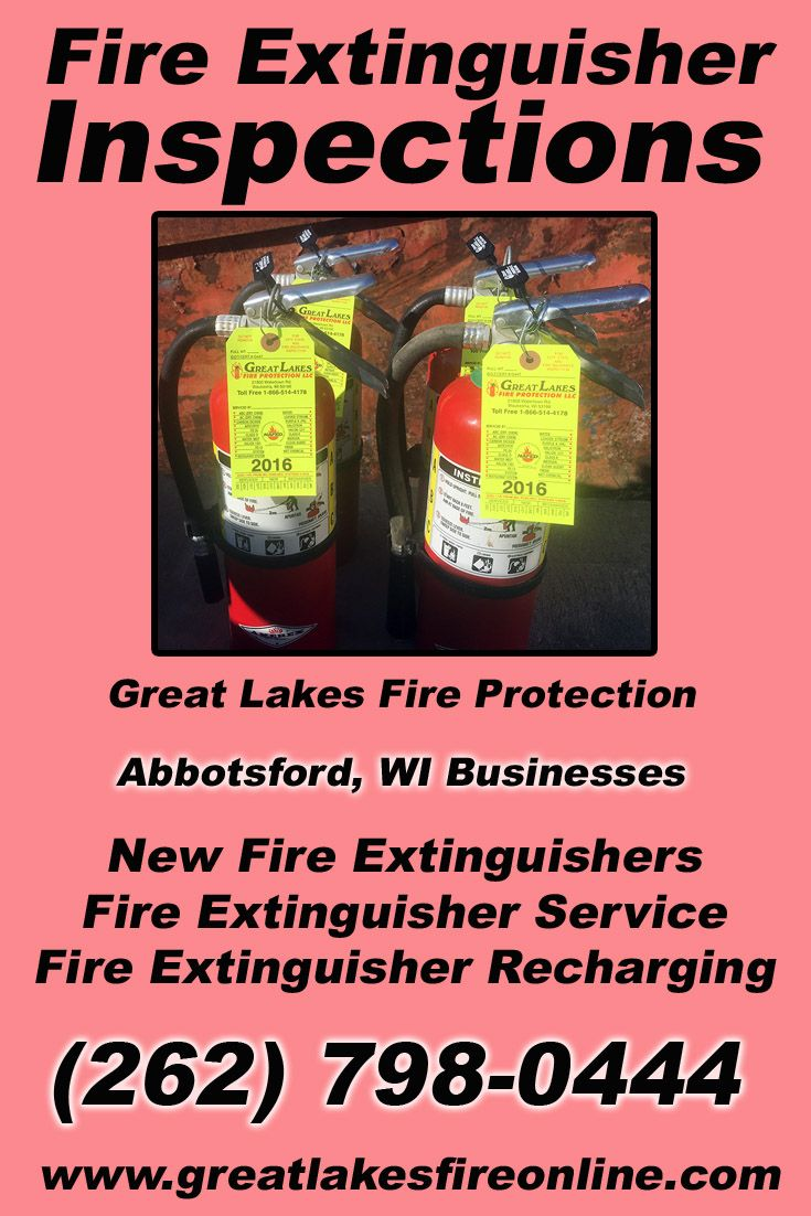 Fire Extinguisher Inspections Abbotsford, WI (262) 798-0444 Check out Great Lakes Fire Protection.. The Complete Source for Fire Protection in Wisconsin. Call us Today!