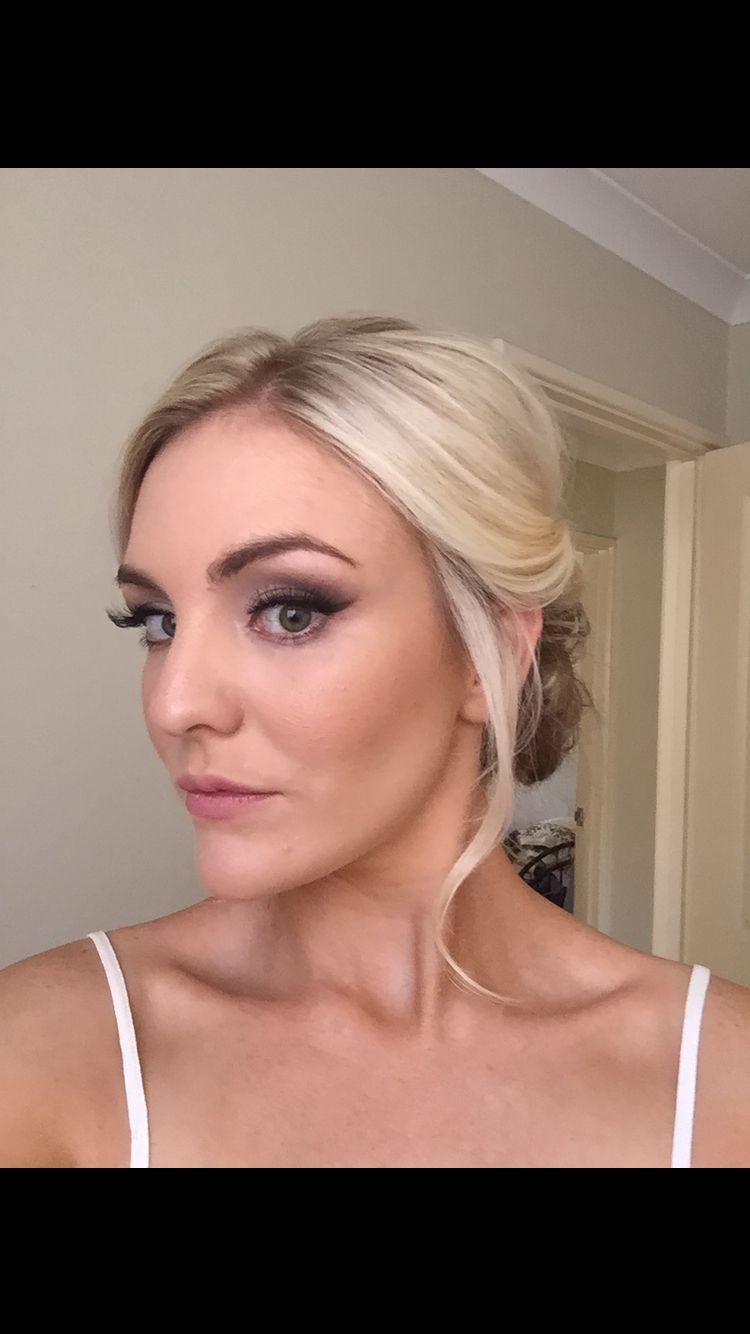 Tenille for her bridal trial hair by tahnyaus bridal design makeup