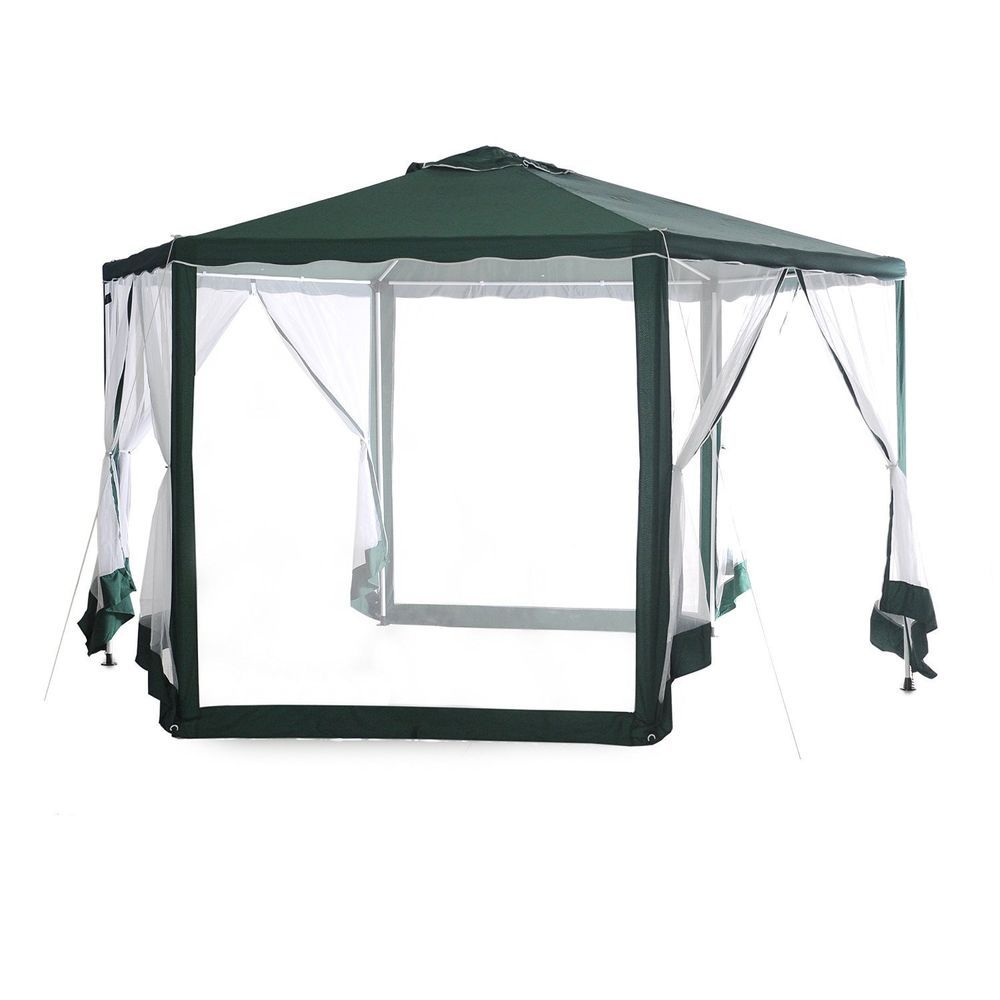 Canopy Gazebo Tent Outdoor Shelter Mosquito Net Sun Shade Events Camping  Picnic #AbbaPatio