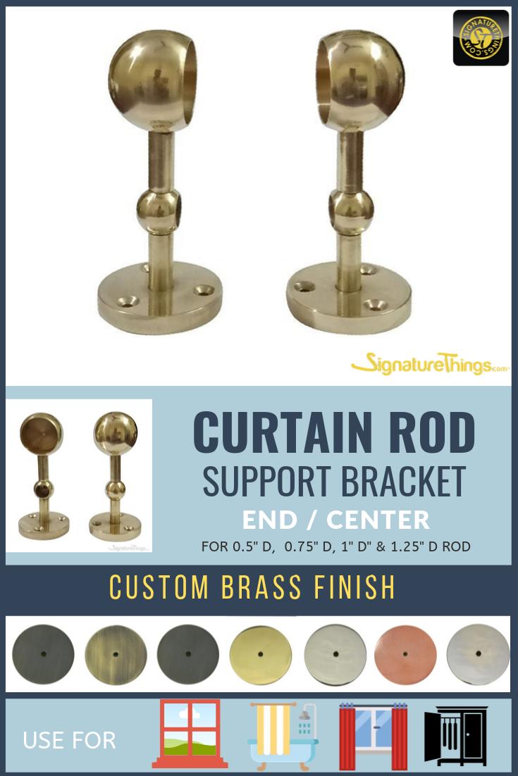Double Curtain Rod End Bracket Center Drapery Bracket Discontinued Double Rod Curtains Curtain Rod Ends Acrylic Rod