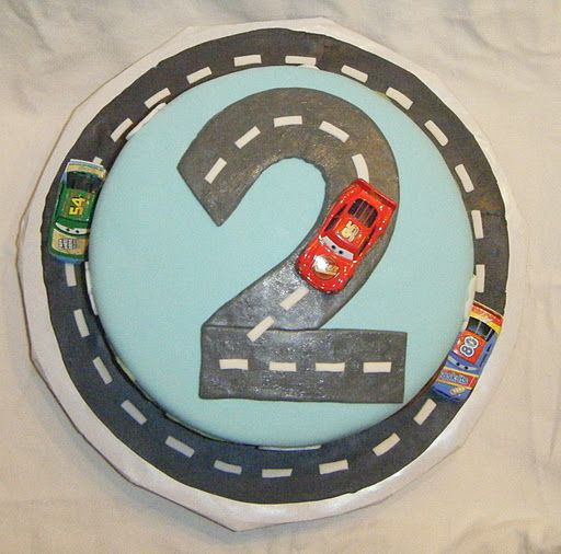 Top of Disney Cars cake
