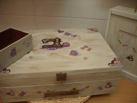 Como envejecer cajas madera reciclar youtube for Manualidades con madera vieja