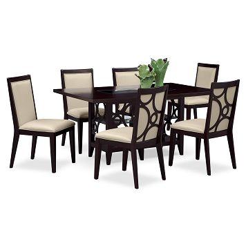 American Signature Furniture  Luna Parchment Dining Room 7 Pc Inspiration American Signature Dining Room Sets Design Inspiration