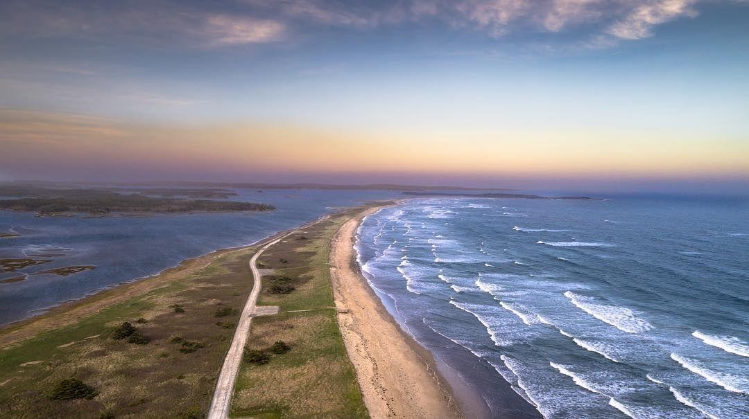 Martinique Beach is the longest sandy beach in Nova Scotia,) | Nova