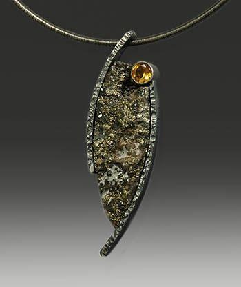 wolfgang vaatz jewelry | Matrix Pyrite Pendant by Wolfgang Vaatz | jewelry | Pinterest