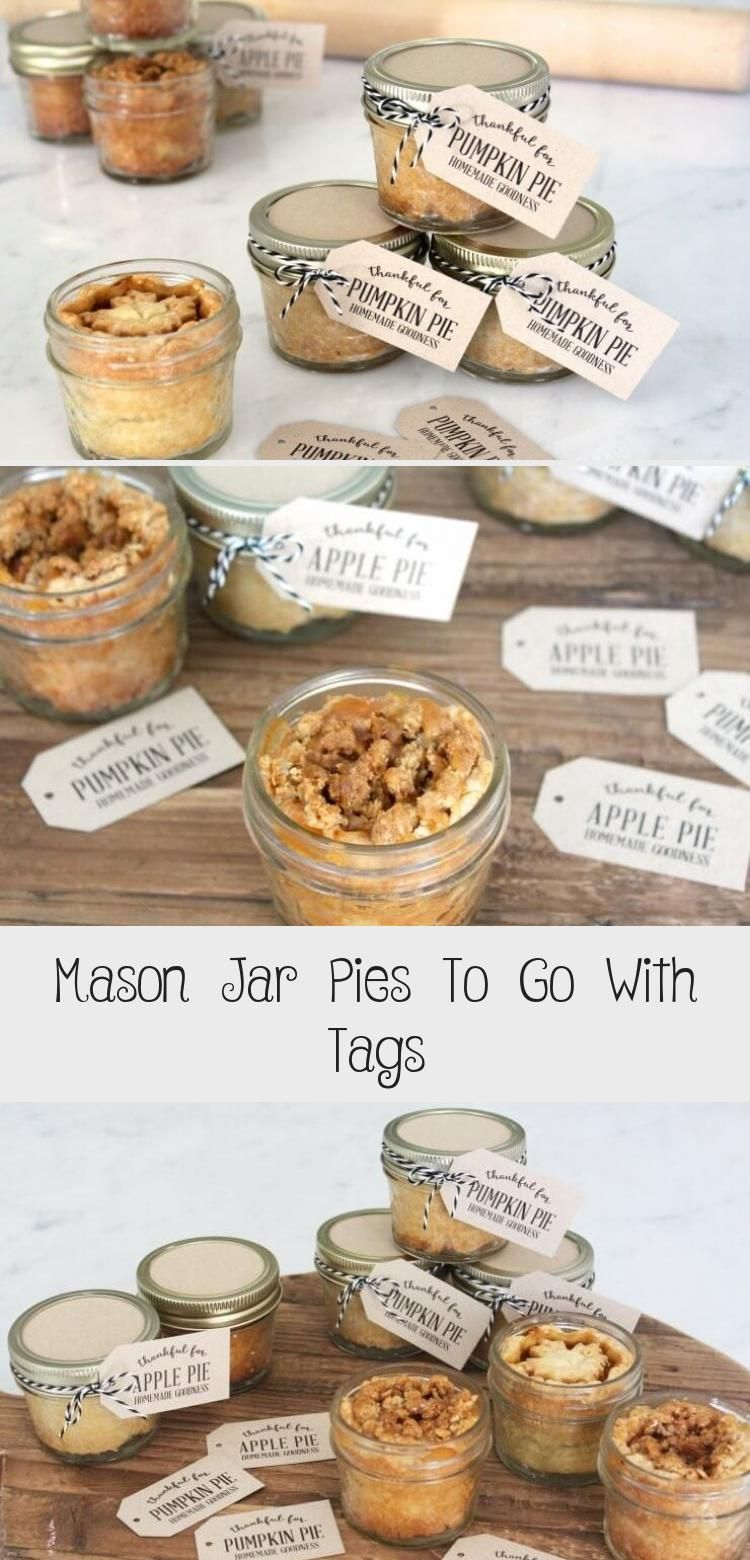 Mason Jar Pies To Go by Jenny Raulli of Bloom Designs for I Heart Naptime Hi Everyone! I can't ev