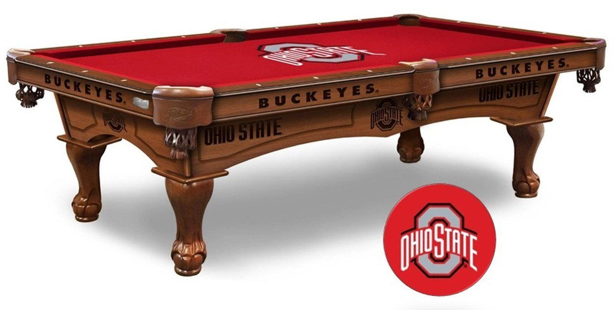 The Ohio State Buckeyes Pool Table Is Available In An 8 Ft Length. Wood