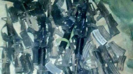Así fue cómo recuperaron los 19 fusiles tipo M4