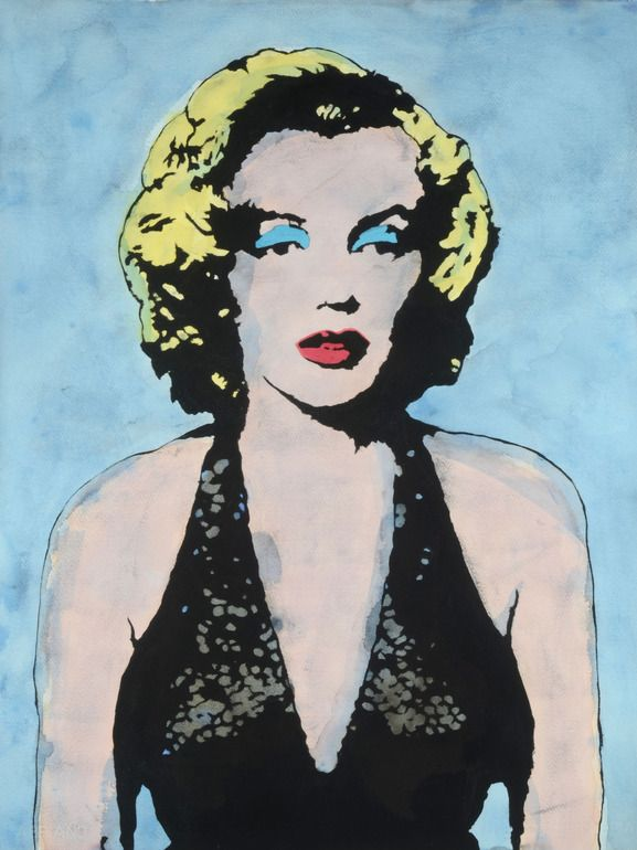 "Artist: Martin Torsleff; Watercolor, Painting ""Pop Art""  