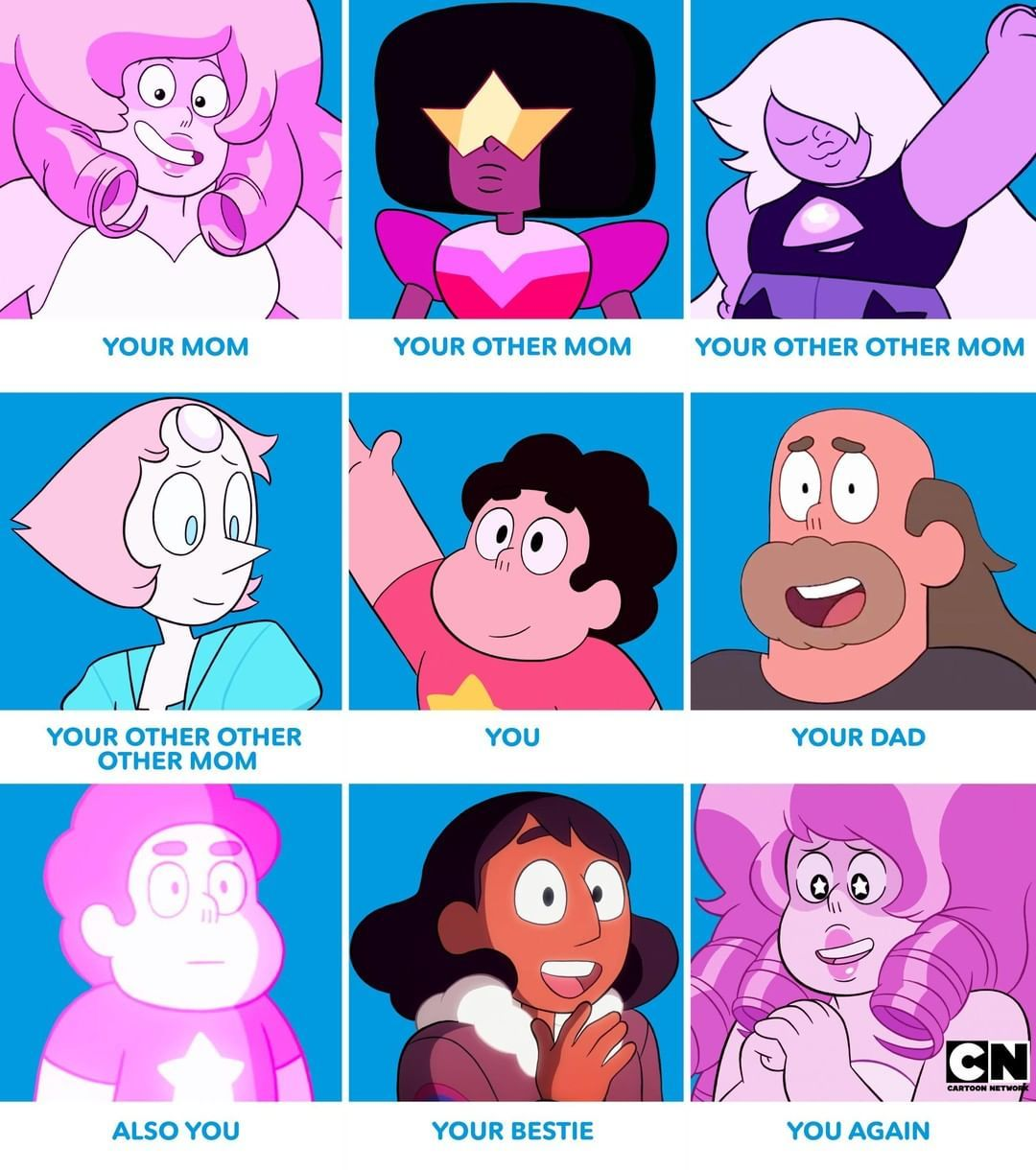 Cartoon Network On Instagram Family Goals Tbh Stevenuniverse Cartoonnetwork Steven Universe Movie Steven Universe Memes Steven Universe Funny