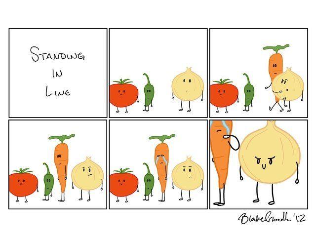 Never cut an onion