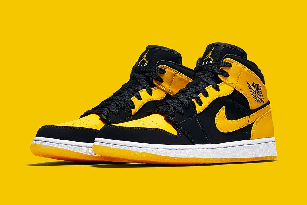 air jordan 1 jaune et noir