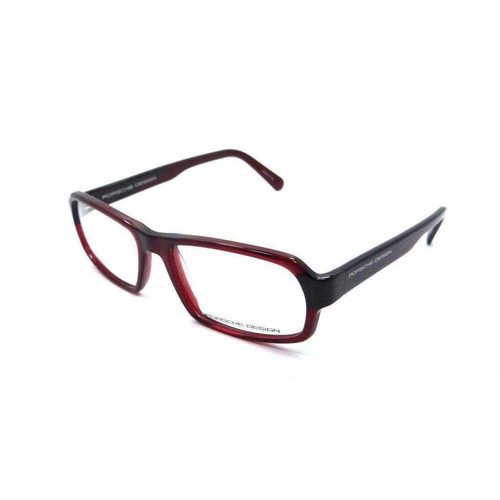 290a249e7f Porsche Design Rx Eyeglasses Frames P8215 D 55x16 Cherry Red Made in Italy