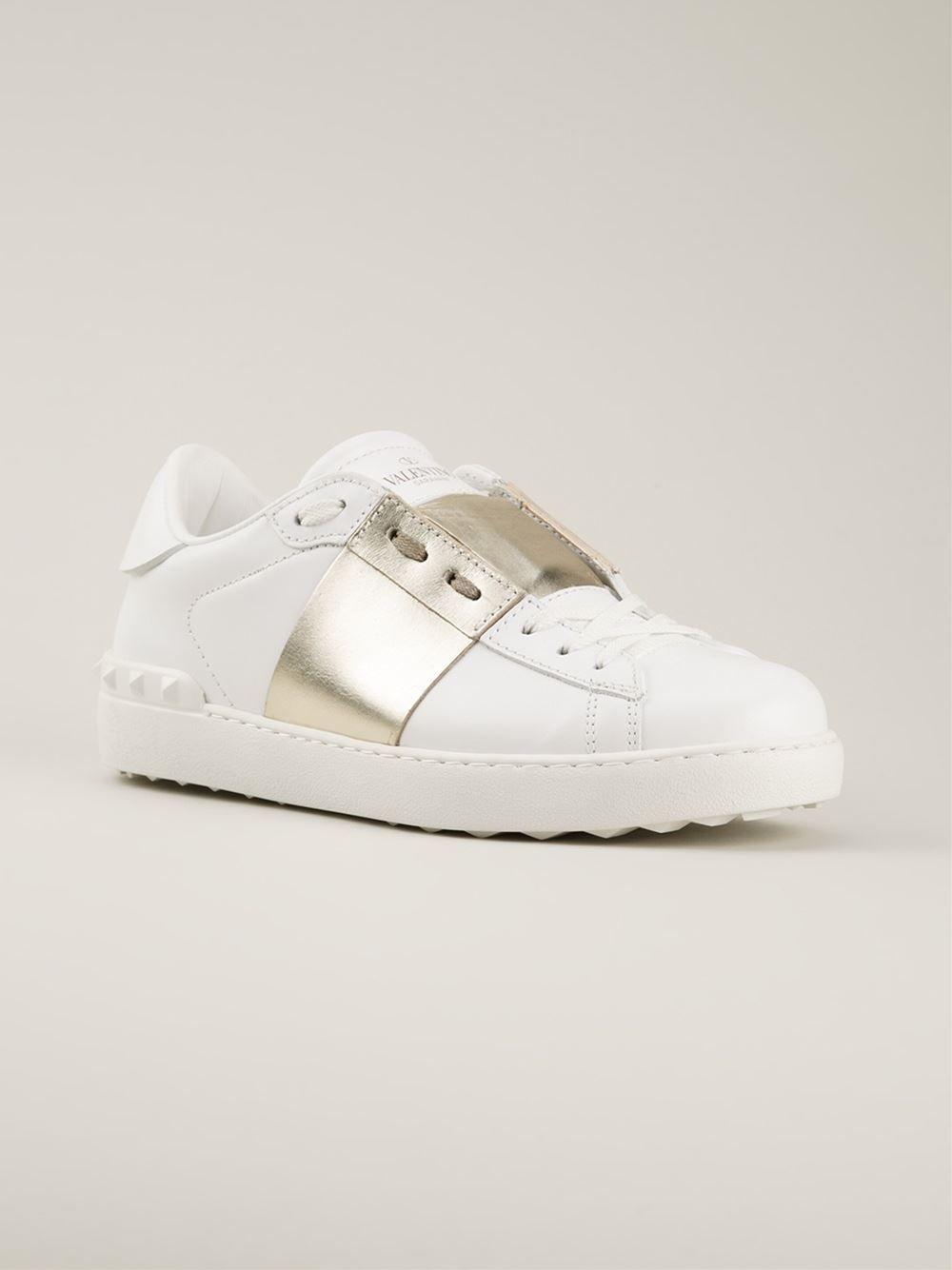 27a87d78022c Valentino Garavani  low Top Open  Sneakers - Hirshleifers - Farfetch ...