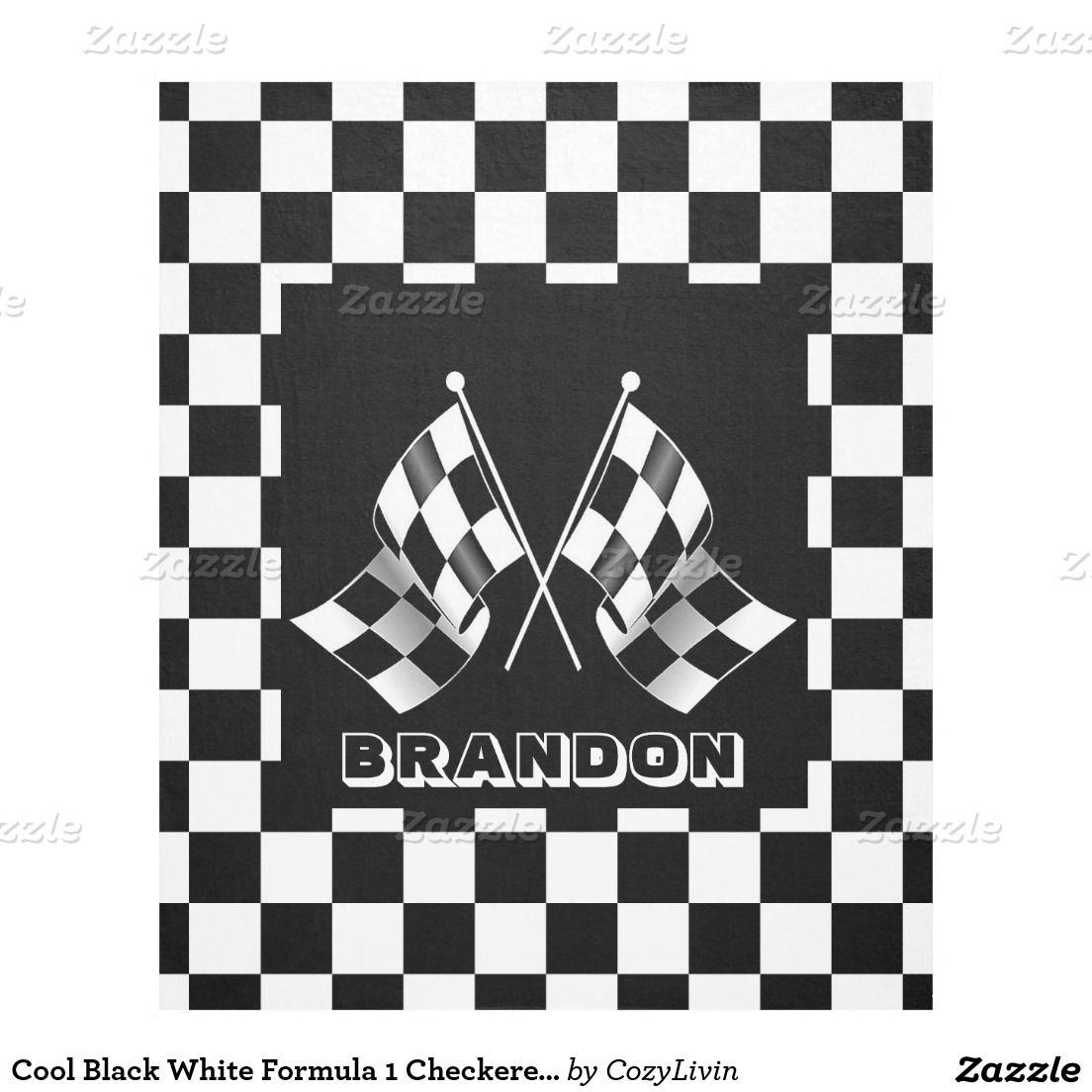 Custom Cool Formula 1 Checkered Flag Pattern Fleece