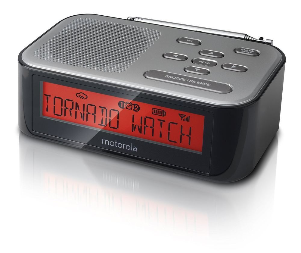 motorola desktop weather radio am fm radio alarm clock desktop weather radio alarm clock and. Black Bedroom Furniture Sets. Home Design Ideas