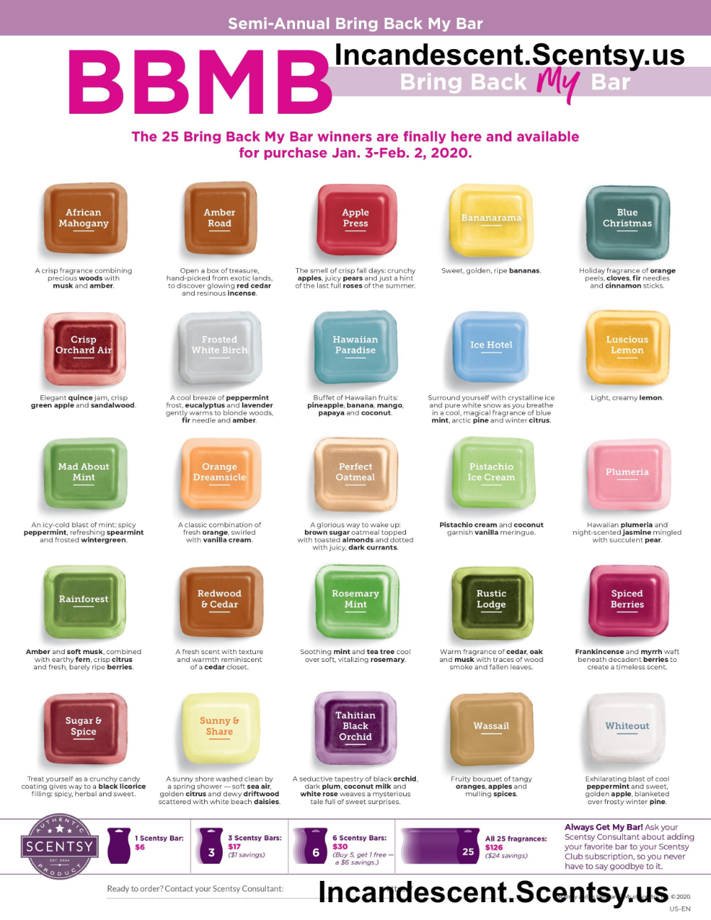 Pin On Scentsy Bring Back My Bar January 2020