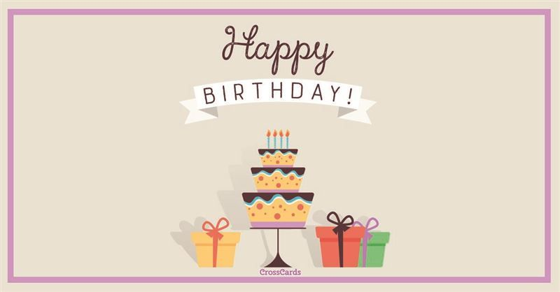 Send This Free Happy Birthday Ecard To A Friend Or Family Member Send Free Birthday Ecar Happy Birthday Cards Online Birthday Card Online Free Birthday Card