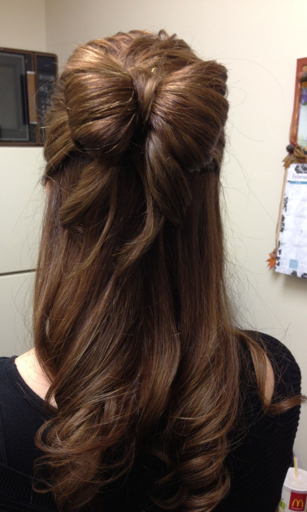 Cute hair bow style made by me Hairstyles Pinterest Hair