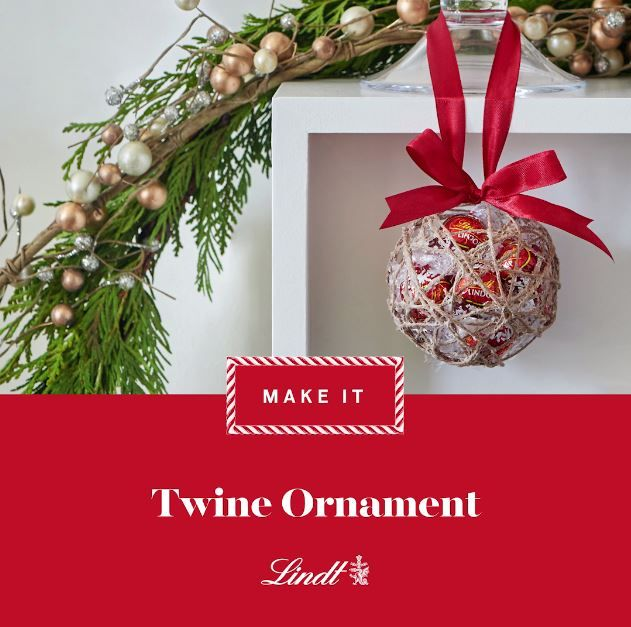 We filled these homemade ornaments with Lindor Milk Chocolate Truffles for a pop of festive colour. #lindtheseason #decorate #christmasdecor #christmasideas #craftideas #ornament #videodiy #twine #lindor #lindt #truffles #chocolate #diy #christmas #easy #chocolatepops
