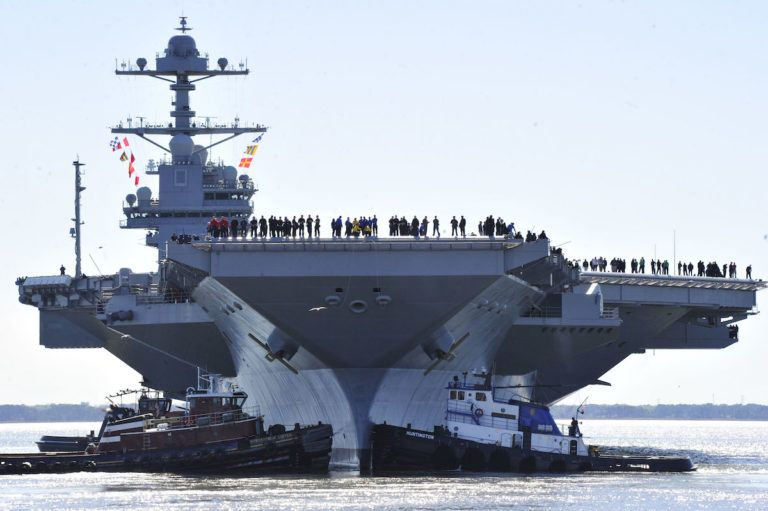 Photos Future Uss Gerald R Ford Supercarrier At Sea For First Time Aircraft Carrier Uss Gerald R Ford Ford America