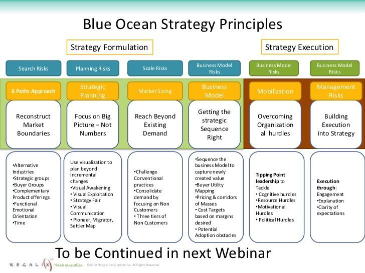Blue Ocean Strategy Principles Business Pinterest - business strategy