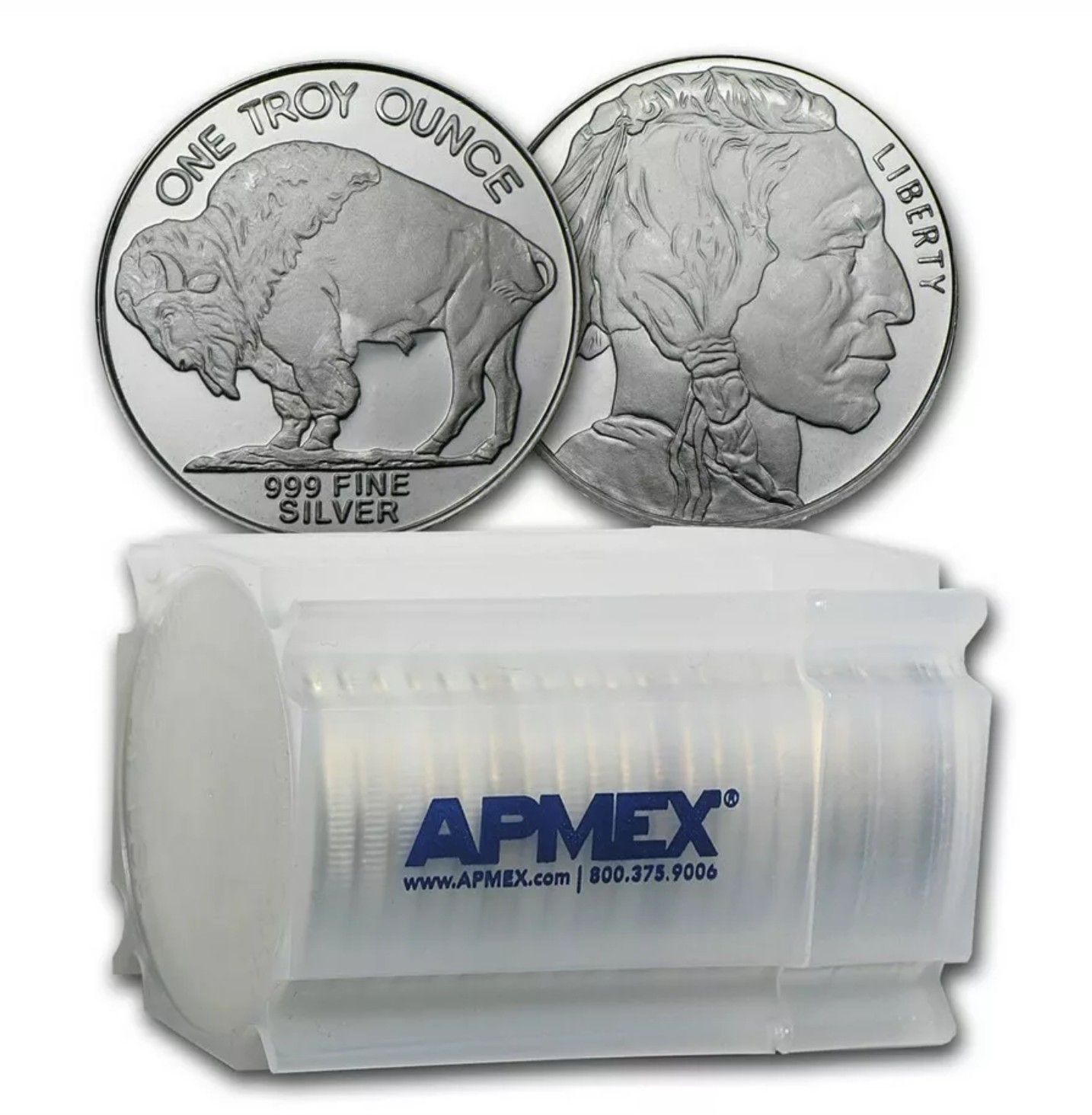 Details About 1 Oz Silver Round Buffalo Lot Roll Tube Of 20 Sku 74759 Silver Bullion Apmex Silver Rounds