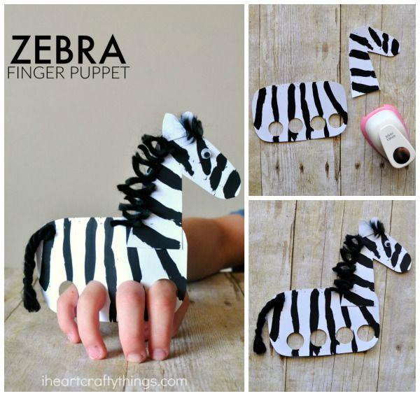 Zebra Finger Puppets Craft Zebra Craft Puppet Crafts Finger Puppets