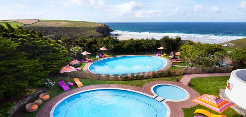 Outdoor Swimming Pools At Bedruthan Hotel Beautiful Uk Escapes