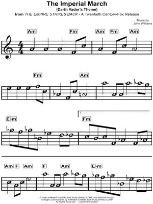 Imperial March Trumpet Sheet Music Piano Sheet Music Beginners