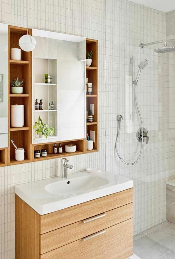 Photo of bathroom storage ideas; bathroom storage ideas for small spaces; DIY storage ideas.