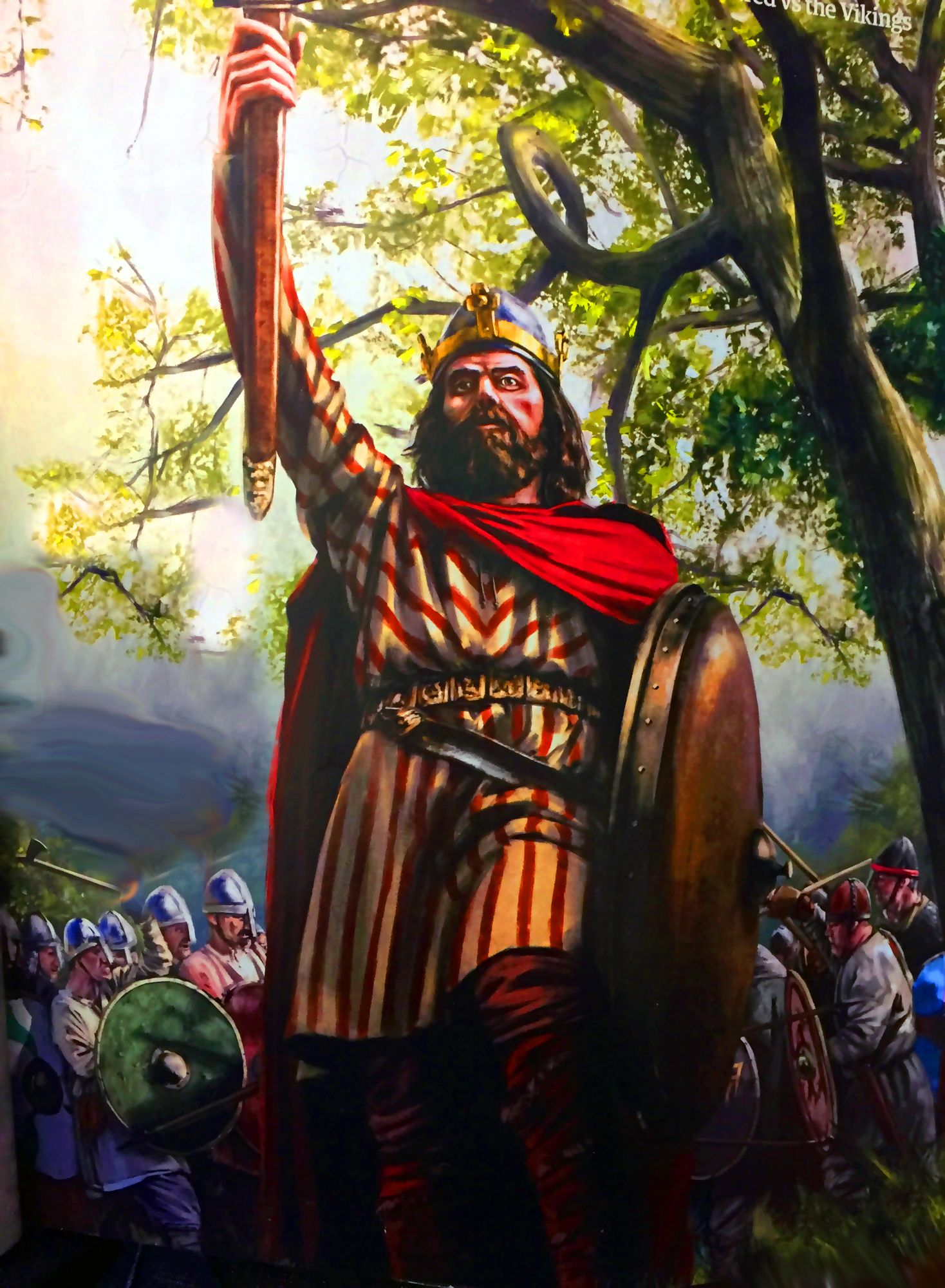 King Alfred The Great Leading The Anglo Saxons Against