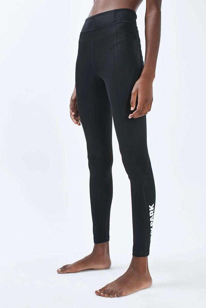 2a0b2ca824b7f Ivy park Y women's logo high rise ankle leggings black size m #IVYPARK  #ActivewearLeggings